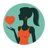 Eine Illustration der Schönheit Herz halten Lizenzfreie Stockfotos