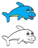 Netter Delphin Stockfotos
