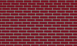 Eine Illustration einer Wand des roten Backsteins Lizenzfreie Stockfotografie