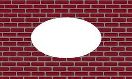 Eine Illustration einer Wand des roten Backsteins Lizenzfreies Stockbild