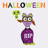 Eine Illustration netter Halloween-Eule Lizenzfreie Stockfotografie