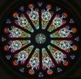 Eine Innenansicht von Rose Window oder von Catherine Window stockfoto