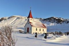 Eine isländische Kirche lizenzfreie stockbilder