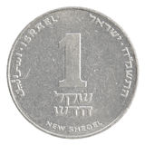 Eine israelische neue Sheqel-Münze Lizenzfreies Stockfoto