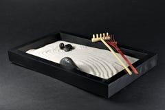 Eine japanise Miniatur Zen Garden stockfoto