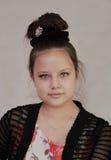 Eine Jugendliche mit updo Lizenzfreie Stockbilder