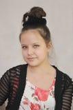 Eine Jugendliche mit updo Stockfotos