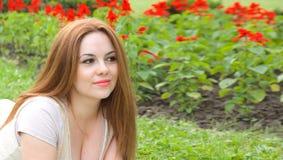 Eine junge attraktive Frau Stockfotografie