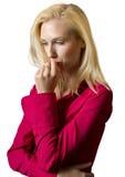 Eine junge blonde weibliche Exekutive Lizenzfreie Stockbilder