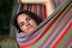 Eine junge Frau Stockfotos