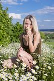Eine junge Frau Lizenzfreies Stockfoto