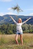 Eine junge Frau im Bayern Lizenzfreies Stockbild
