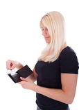 Eine junge Frau mit Kreditkarte Stockbilder