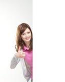 Eine junge kaukasische Jugendlicheholding greift oben ab lizenzfreie stockbilder