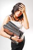 Eine junge Sekretärin Stockfoto