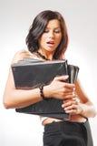 Eine junge Sekretärin Stockbilder