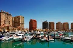 Eine künstliche Insel Perle-Katar in Doha, Katar Stockbilder