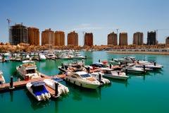 Eine künstliche Insel Perle-Katar in Doha, Katar Lizenzfreies Stockbild