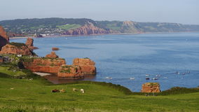 Eine Küstenszene in England im Sommer Lizenzfreies Stockbild