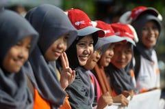 Eine Kampagne 'zum Opfer' vor Eid Al-Adha-Feier in Indonesien Stockfotografie