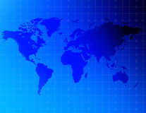 Eine Karte der Welt Lizenzfreies Stockbild
