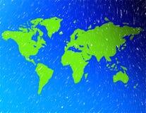 Eine Karte der Welt Lizenzfreies Stockfoto