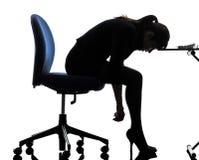 Geschäftsfrauschattenbild Lizenzfreie Stockbilder