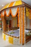 Eine Kerala-Hochzeitsblumendekoration Lizenzfreie Stockbilder