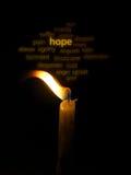 Eine Kerze Hoffnung Stockfotografie