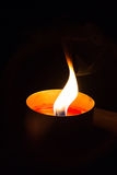 Eine Kerzeleuchte lizenzfreies stockbild