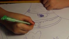 Eine Kind-` s Zeichnung stock video footage