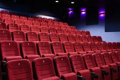 Eine Kinohalle Stockfotos