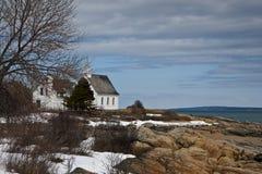 Eine Kirche in Charlevoix Stockfotos