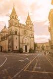 Eine Kirche in der Stadt von Acireale in Sizilien Stockfotos