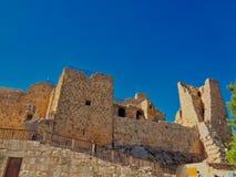 eine Kirche im Jordanien-Nachtisch lizenzfreies stockfoto