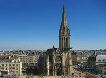 Eine Kirche im Stadtzentrum von Caen Lizenzfreies Stockbild