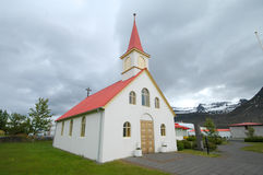 Eine Kirche in Island Stockbild