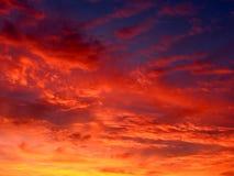 Feuer Cloudscape Stockbilder