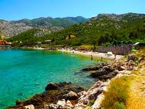Eine kleine Bucht in Lukovo Kroatien Stockfoto