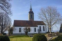 Eine kleine Dorfkirche Lizenzfreies Stockbild