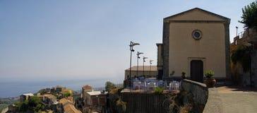 Eine kleine Kirche in Savoca-Dorf sizilien Italien Lizenzfreie Stockfotos