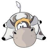 Eine kleine Kuh karikatur Lizenzfreie Stockfotos