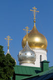Eine kleine orthodoxe Kirche in Moskau Stockbild