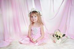Eine kleine Prinzessin Stockbild