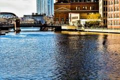 Eine kleine Scheibe von im Stadtzentrum gelegenem Milwaukee stockfotos