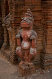 Eine kleine Skulptur Alte Tempel in Bagan, Myanmar Lizenzfreie Stockfotografie