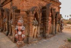 Eine kleine Skulptur Alte Tempel in Bagan, Myanmar Lizenzfreie Stockbilder