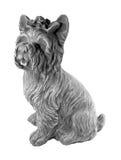 Eine kleine Statue des Betons für die Landschaftsgestaltung Kleiner Hund Lizenzfreies Stockbild