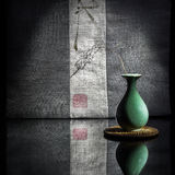Eine kleine Wassertröpfchenform des Porzellans Lizenzfreies Stockfoto