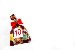 Eine kleine Weihnachtstasche Lizenzfreies Stockfoto